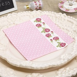 Picture of Paper Cocktail Napkins - Vintage Rose