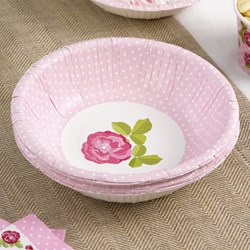 Picture of Paper Bowls - Vintage Rose