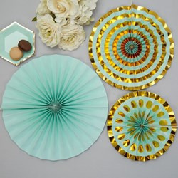 Picture of Pinwheel Decorations - Colour Block Marble - Mint