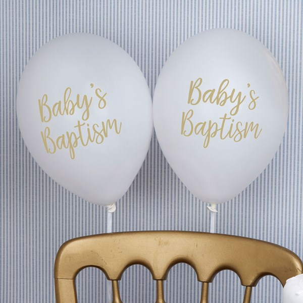 Picture of White Balloons - Baptism
