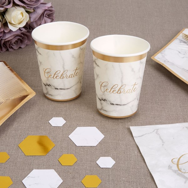 Picture of Paper Cups - Scripted Marble Cup