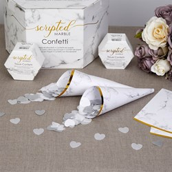 Picture of Confetti Cones - Scripted Marble