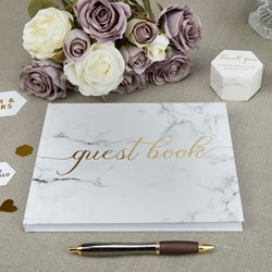 Picture of Guest Book - Scripted Marble