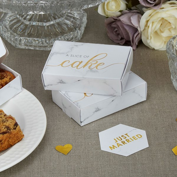 Picture of Cake Boxes - Scripted Marble