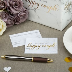 Picture of Wedding Wishes Cards - Scripted Marble