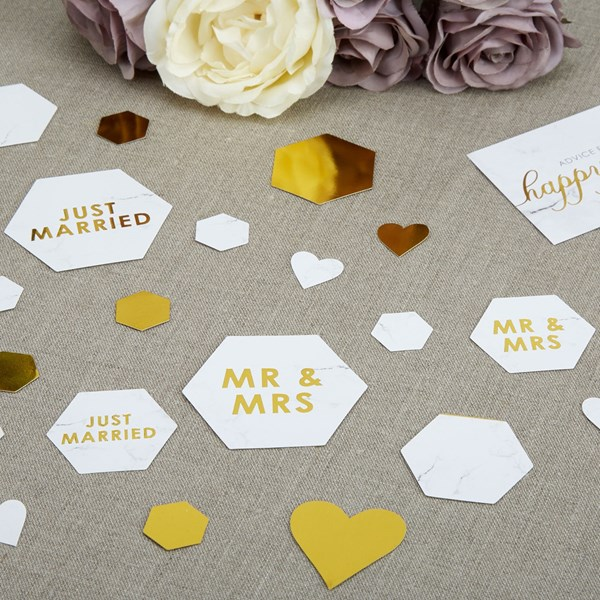 Picture of Table Scatter Confetti - Scripted Marble