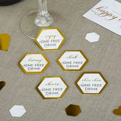 Picture of Drinks Tokens - Scripted Marble