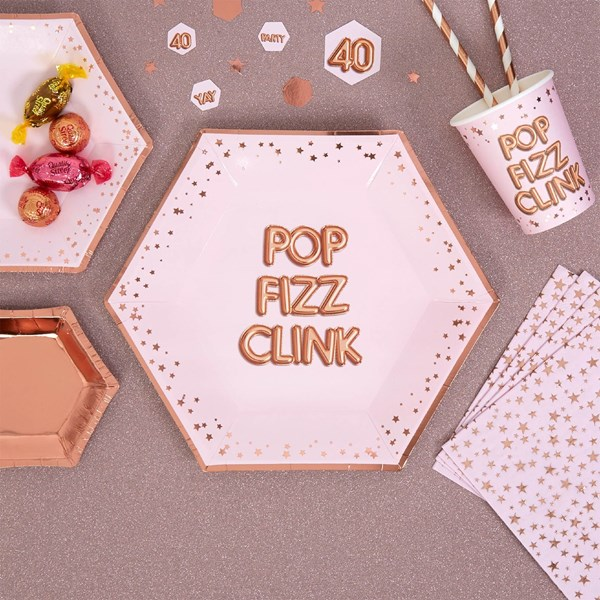 Picture of Large Paper Plates - POP, FIZZ, CLINK - Glitz & Glamour