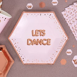 Picture of Medium Paper Plates - LETS DANCE - Glitz & Glamour