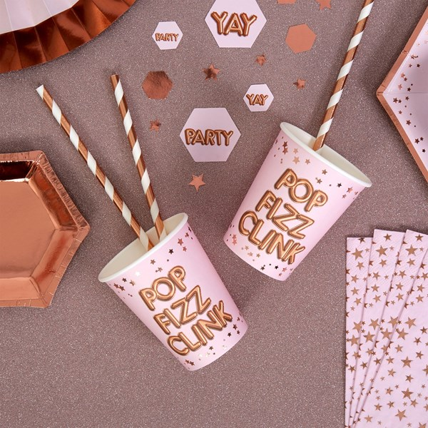 Picture of Paper Cups - POP, FIZZ, CLINK - Glitz & Glamour