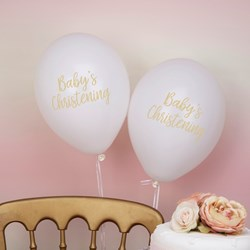 Picture of White Balloons - Christening