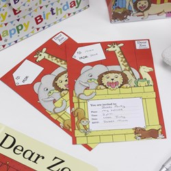 Picture of Party Invitations - Dear Zoo