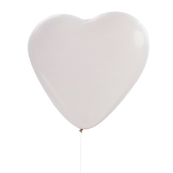 Picture of Large White Heart Balloon