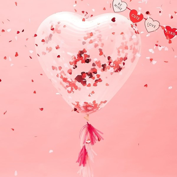 Picture of Heart Confetti Balloon Kit