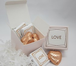 Picture of Love in Rose Gold Chocolate Favour Box