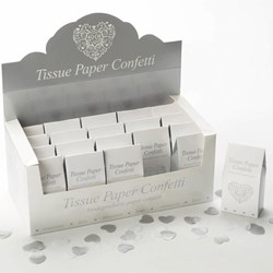 Picture of Confetti Tissue Paper in White & Silver