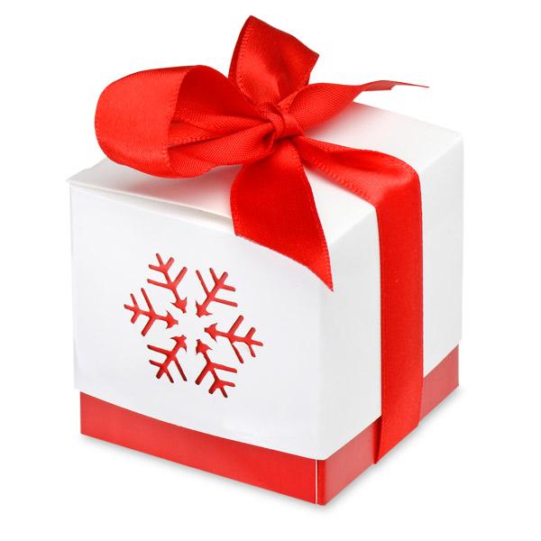 Red Snowflake Gift Box Uk Wedding Favours
