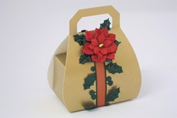 Picture of Christmas Gold Silk Handbag Box