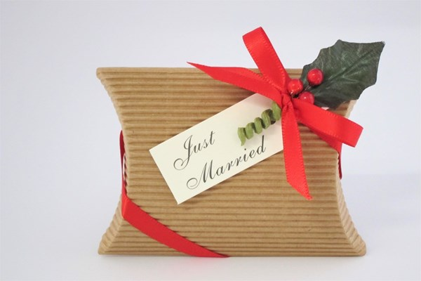 Picture of Christmas Corrugated Kraft Pillow Box