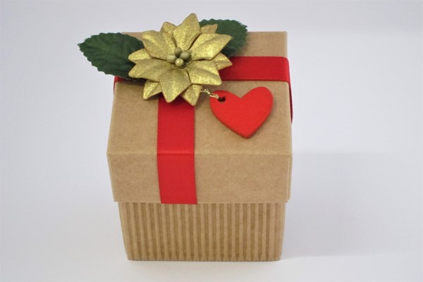 Picture of Christmas Corrugated Kraft Square Box+Lid