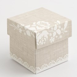 Picture of Pearl Grey Shabby Chic Square Box