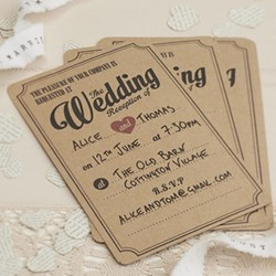 Picture of Vintage Affair Wedding Reception Invitations