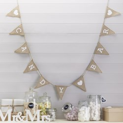 Picture of Candy Bar Hessian Bunting
