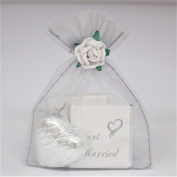 Picture of Silver Voile Bag Chocolate Favour