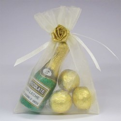 Picture of Golden Bubbles Chocolate Favour Bag