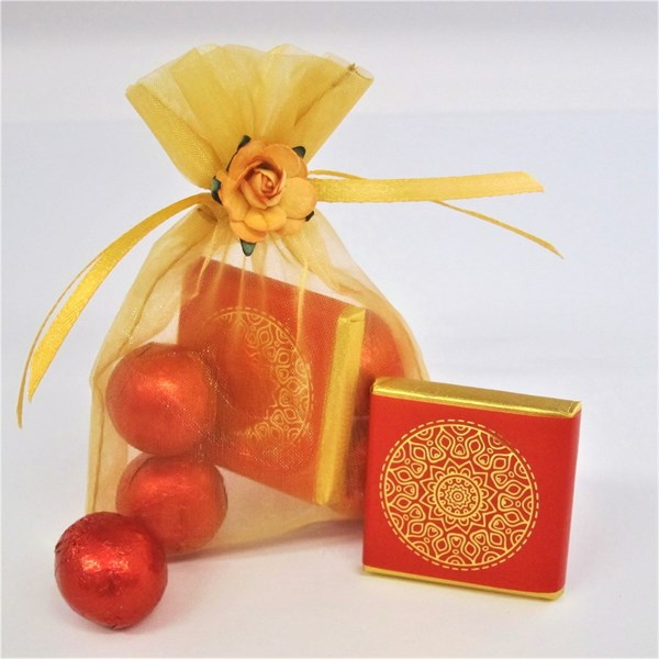 Picture of Mandala Good Luck Chocolate Wedding Favour