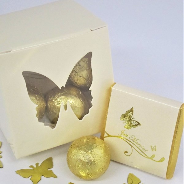 Picture of Butterfly Chocolate Favour Box