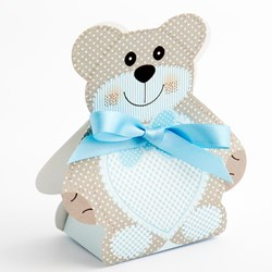 Picture of DIY Teddy Bear Favour Box Blue