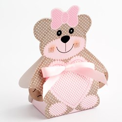 Picture of DIY Teddy Bear Favour Box Pink