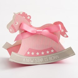 Picture of A New Star Rocking Horse Favour Box Pink