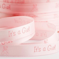 Picture of Its A Girl Satin Ribbon