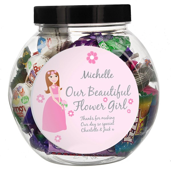 Picture of Fabulous Flower Girl Sweet Jar