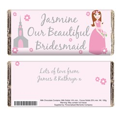 Picture of Beautiful Bridesmaid Chocolate Bar