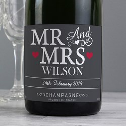 Picture of Personalised Mr & Mrs Champagne