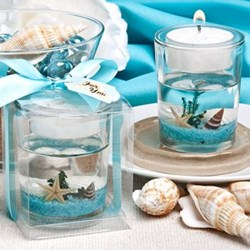 Picture of Beach Scene Candle Favour