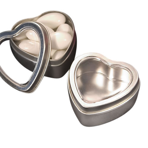 Picture of Heart Shaped Favour Tin