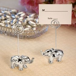 Picture of Silver Elephant Place Card Holder