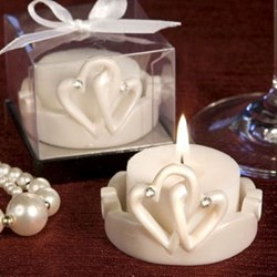 Picture of Love Hearts Candle Favour