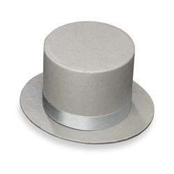 Picture of Top Hat in Silver
