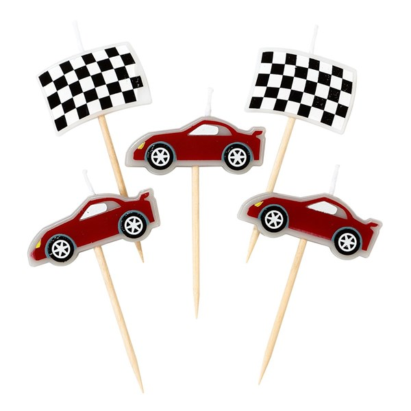 Picture of Racing Car Birthday Cake Candles