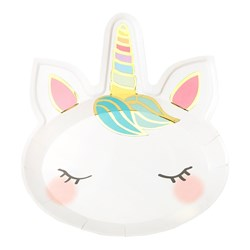 Picture of Unicorn Face Paper Plate