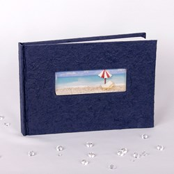 Picture of Beach Guest Book in Navy