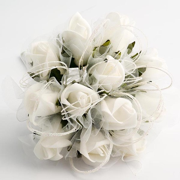 Picture of Bouquets - Shimmer Small White Posy Style