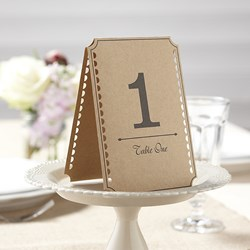 Picture of Brown Kraft Table Numbers - Vintage Affair - 1 - 12