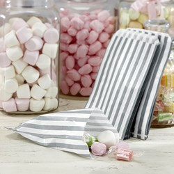 Picture of White & Silver Candy Bags