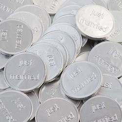 Picture of Chocolate Coins Just Married